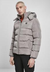 Pánska zimná bunda URBAN CLASSICS Hooded Puffer asphalt Velikost: 4XL, Objem: pánske