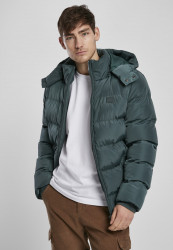 Pánska zimná bunda URBAN CLASSICS Hooded Puffer bottlegreen