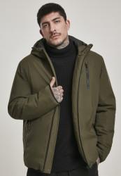 Pánska zimná bunda Urban Classics Hooded Sporty Zip Jacket khaki Farba: Khaki,