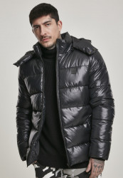 Pánska zimná bunda Urban Classics Hooded Vanish Puffer Jacket black