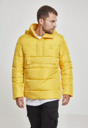 Pánska žltá bunda Urban Classics Pull Over Puffer Jacket chromeyellow