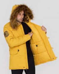 Pánska žltá zimná bunda Alpha Industries Explorer #2