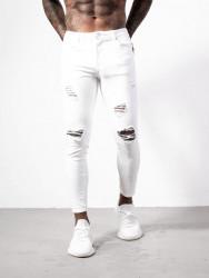 Pánske biele rifle ALIVE DENIM Worn Jeans