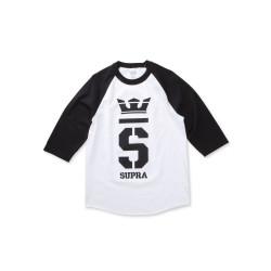 Pánske biele tričko 3/4 rukáv Supra Champ