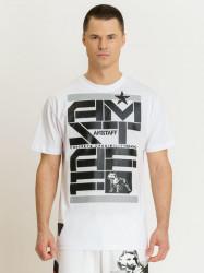 Pánske biele tričko Amstaff Derky T-Shirt Size: 3XL