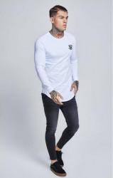 Pánske biele tričko s dlhým rukávom Sik Silk Long Sleeve Gym #2