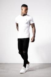 Pánske biele tričko s krátkym rukávom Alive Micro Bolt Tight Tee #2