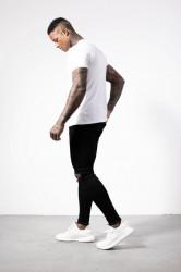 Pánske biele tričko s krátkym rukávom Alive Micro Bolt Tight Tee #3