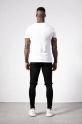 Pánske biele tričko s krátkym rukávom Alive Micro Bolt Tight Tee #4