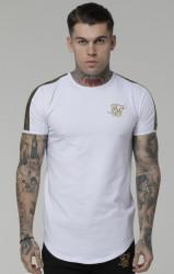 Pánske biele tričko s krátkym rukávom Sik Silk Gold Edit Runner