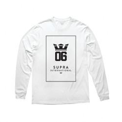 Pánske biele tričko Supra OG International