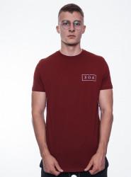 Pánske bordové tričko s krátkym rukávom 304 Clothing
