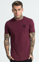 Pánske bordové tričko s krátkym rukávom Sik Silk Short Sleeve Gym