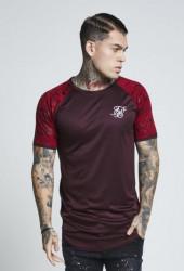 Pánske bordové tričko s krátkym rukávom Sik Silk