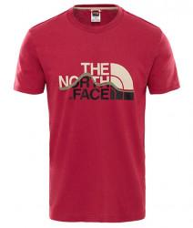 Pánske bordové tričko s krátkym rukávom The North Face Mount Line