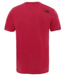 Pánske bordové tričko s krátkym rukávom The North Face Mount Line #1