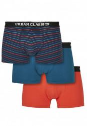 Pánske boxerky Urban Classics Boxer Shorts 3-Pack ministripeaop