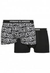 Pánske boxerky Urban Classics Organic Boxer Shorts 2-Pack detail aop
