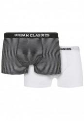 Pánske boxerky Urban Classics Organic Boxer Shorts 2-Pack mini stripe aop