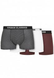 Pánske boxerky Urban Classics Organic Boxer Shorts 3-Pack mini stripe