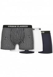 Pánske boxerky Urban Classics Organic Boxer Shorts 3-Pack minimal