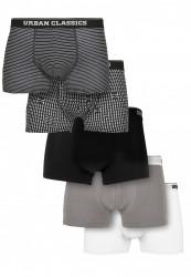 Pánske boxerky Urban Classics Organic Boxer Shorts 5-Pack m.stripeaop