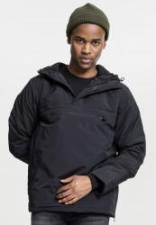 Pánske bunda Urban Classics Padded Pull Over Jacket black #1