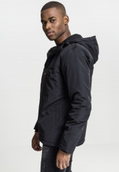 Pánske bunda Urban Classics Padded Pull Over Jacket black #2