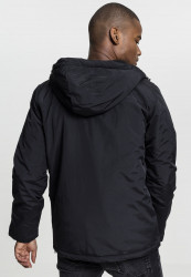 Pánske bunda Urban Classics Padded Pull Over Jacket black #3