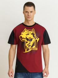 Pánske červené Amstaff Smash T-Shirt Size: 3XL