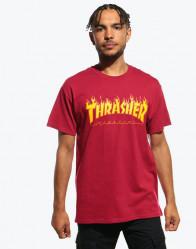 Pánske červené tričko Thrasher Flame logo Farba: Červená,