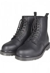 Pánske čierne členkové topánky Urban Classics Heavy Lace Boot