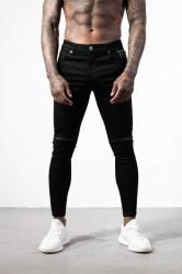 Pánske čierne rifle ALIVE DENIM Ripped Knee Jeans