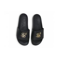 Pánske čierne šľapky Sik Silk Roma Lux