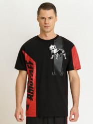 Pánske čierne tričko Amstaff Alrik T-Shirt Size: 3XL