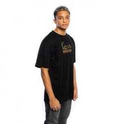 Pánske čierne tričko Karl Kani Jeans Signature Tee