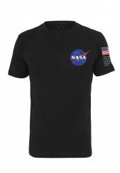 Pánske  čierne tričko MR.TEE NASA Insignia Logo Flag Tee Farba: black, #1