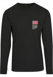 Pánske čierne tričko MR.TEE NASA Worm Logo Longsleeve Farba: black,