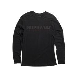Pánske čierne tričko s dlhým rukávom Supra Splattr Type
