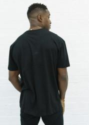 Pánske čierne tričko s krátkym rukávom 304 Clothing Oversize Black Script Farba: Čierna, #2