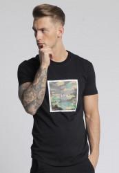 Pánske čierne tričko s krátkym rukávom 304 Clothing