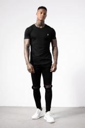Pánske čierne tričko s krátkym rukávom Alive Micro Bolt Tight Tee #1