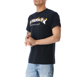 Pánske čierne tričko Thrasher INTRO BURNER #1