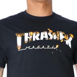 Pánske čierne tričko Thrasher INTRO BURNER #3