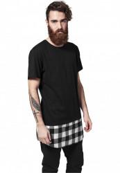 Pánske čierne tričko URBAN CLASSICS Long Shaped Flanell Bottom Tee Farba: Čierna,