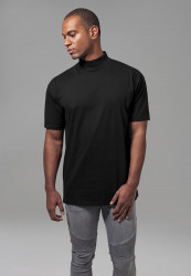 Pánske čierne tričko URBAN CLASSICS Oversized Turtleneck Tee black Farba: Čierna,