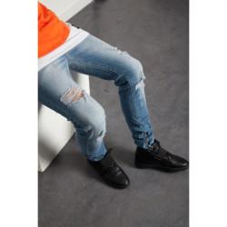Pánske jeansy Sixth June Slim Blue Farba: Modrá,