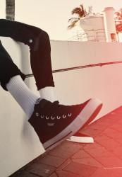Pánske kotníkové tenisky Urban Classics High Top Canvas Sneaker
