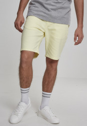 Pánske kraťase URBAN CLASSICS Stretch Twill Men Shorts powderyellow
