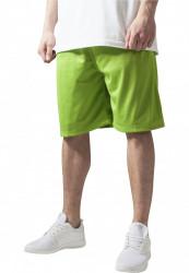 Pánske kraťasy URBAN CLASSICS Bball Mesh Shorts limegreen